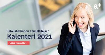 Taloushallinnon ammattilaisen kalenteri 2021_Accountor Finago